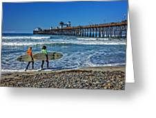Surfing Today Greeting Card