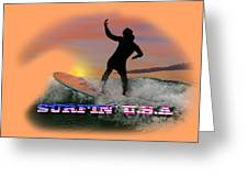 Surfing U.s.a. Greeting Card