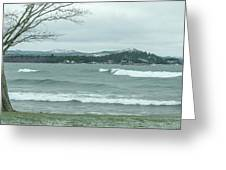 Surfing Waves Greeting Card