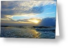 St. Augustine Beach Sunrise Surf Greeting Card