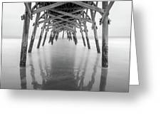 Surfside Pier Exposure Greeting Card