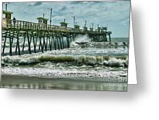 Surge Under The Pier Greeting Card