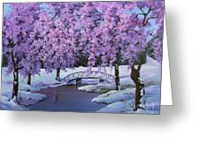 Surprise At Spring Time Greeting Card