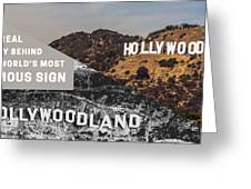 Surprising Facts Of Hollywood Sign Greeting Card