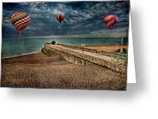 Surreal Beach Greeting Card