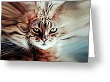 Surreal Cat Greeting Card