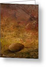 Surreal Egg On An Abstract Canvas Greeting Card