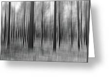 Surreal Forest Abstract. Greeting Card