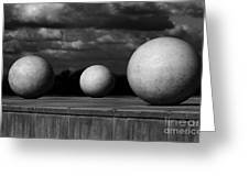 Surreal Globes Greeting Card