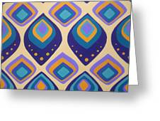 Surreal Peacock Pattern Design. Greeting Card