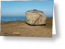 Surreal Rock At Point Loma Greeting Card