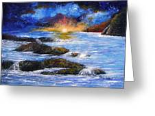 Surreal Sky And Sea Greeting Card