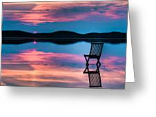 Surreal Sunset Greeting Card by Gert Lavsen