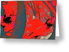 Surrounded 8 Greeting Card
