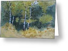 Surrounded By Greenery Greeting Card
