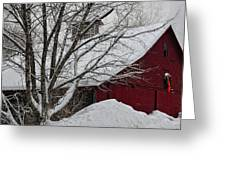 Surrounded By Snow Greeting Card