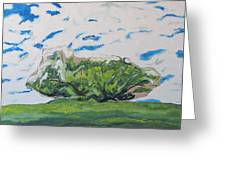 Surrounded With Clouds Greeting Card