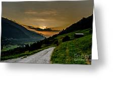 Surselva Valley Greeting Card