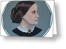 Susan B Anthony Coin Greeting Card