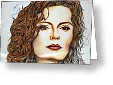 Susan Sarandon Greeting Card by Joseph Lawrence Vasile