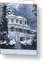 Susanville Elks Lodge At Christmas Greeting Card