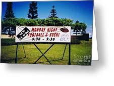 Sushi And Football In Hawaii Greeting Card