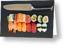 Sushi And Knife Greeting Card