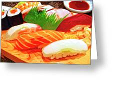 Sushi Plate 1 Greeting Card