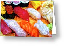Sushi Plate 4 Greeting Card