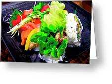 Sushi Plate 5 Greeting Card