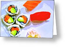 Sushi Plate 6 Greeting Card