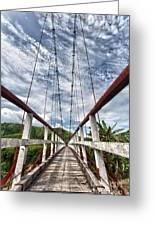 Suspended Bridge Greeting Card