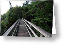 Suspension Bridge 3 Greeting Card
