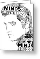 Suspicious Minds Elvis Wordart Greeting Card
