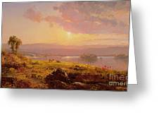 Susquehanna River Greeting Card by Jasper Francis Cropsey