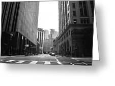 Sutter Street - San Francisco Street View Black And White  Greeting Card