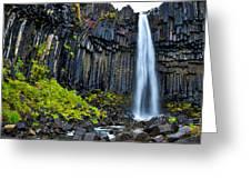 Svartifoss Waterfall - Iceland Greeting Card