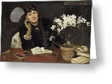 Sven Richard Bergh - The Artist, Julia Beck 1883 Greeting Card