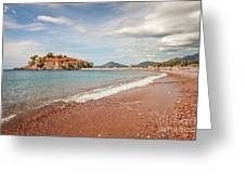 Sveti Stefan Island Iconic Landmark Greeting Card