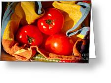 Swaddled Tomatoes Greeting Card