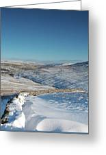 Swaledale In Winter Greeting Card
