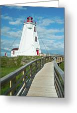 Swallowtail Lighthouse Greeting Card