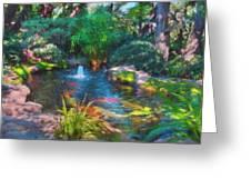 Swamis Garden 2 Greeting Card
