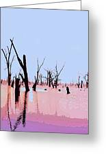 Swamp And Dead Trees Greeting Card