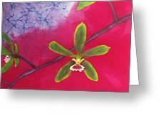 Swamp Orchi Fine Art Batik Greeting Card