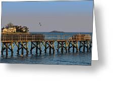 Swampscott Pier Swampscott Ma Greeting Card
