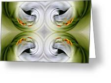 Swan Dancing Greeting Card
