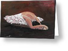 Swan Despair 2 Greeting Card