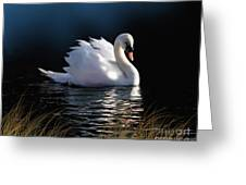 Swan Elegance Greeting Card