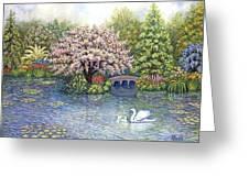 Swan Lake Greeting Card
